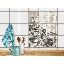 Creatisto Fliesentattoo Dekosticker | Fliesen Aufkleber Folie Sticker  Selbstklebend Küche Renovieren Bad Küchen Ideen |