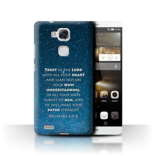 Stuff4® Hülle/Case für Huawei Ascend Mate7 / Trust In The Lord/Proverbs Muster/Christliche Bibel Vers Kollektion