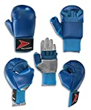 Karate Handschuhe Karate Handschuhe Vollkontakt Karate training Hand Sicherheit Handschuhe - Blau, S Kinder 110-134