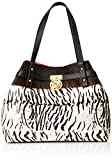 Guess Peony, Women's Shoulder Bag, Multicolour (Zebra Natural/Zna), 56x16.5x33 cm (...