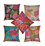 Cushion Covers, cotton fabric, by artisans of Jaipur, India;Versatile in use such that you can use it.;Fabric: Cotton;Available in Many Different Indian Ethnic Color & Designs;Washing Instruction: Dry clean only