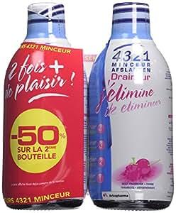 Arkopharma 4321 Minceur Draineur Fruits Rouge 2 Bouteilles de 500 ml - Lot de 2