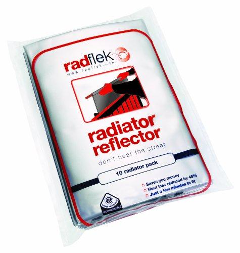 Radflek Reflexionsfolie für Heizkörper, 5 Folien, für 10 Heizkörper -