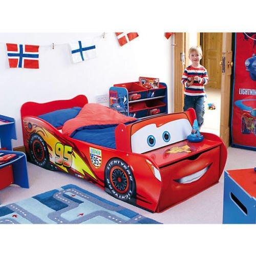 Disney Bett Lightning McQueen - Autobett für Kleinkinder MDF 70x140 Liegefläche