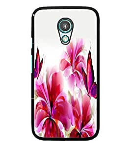 PrintDhaba Butterfly and Flowers D-2387 Back Case Cover for MEIZU M1 NOTE (Multi-Coloured)