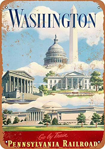 Washington Dc Zoo (JIA KOAH Washington, Dc Via Pennsy Railroad Blechschild Metall dekorative Wand Poster Souvenir)