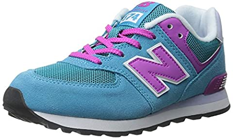 New Balance Mädchen 478150-43 Schuhe mit Schnürung, Bleu (Blue/Pink/437), 30 EU