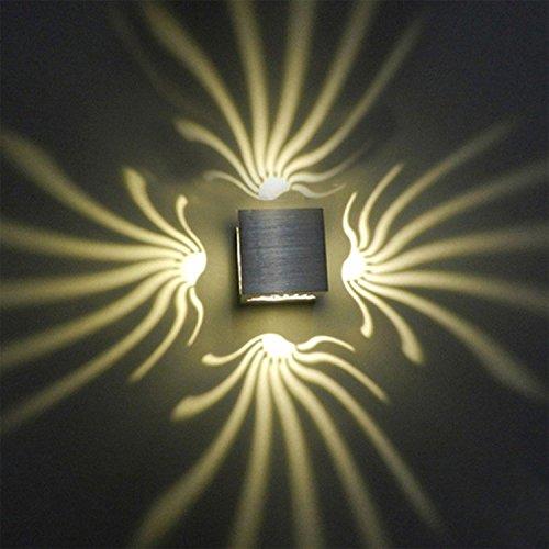 Moderne Linien Moderne-bett (Led Wandleuchte 3 Watt AC85-265V 3000 Karat Moderne Art Aluminium Wandleuchten Up Down Schlafzimmer / Bad / Interior / Wohnzimmer / Korridor / Warmweiß Wandleuchte)
