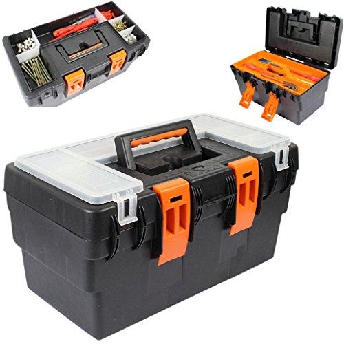 Werkzeugkasten Kunststoff leer ohne Werkzeug Werkzeugkoffer Heimwerker Werkzeugkiste