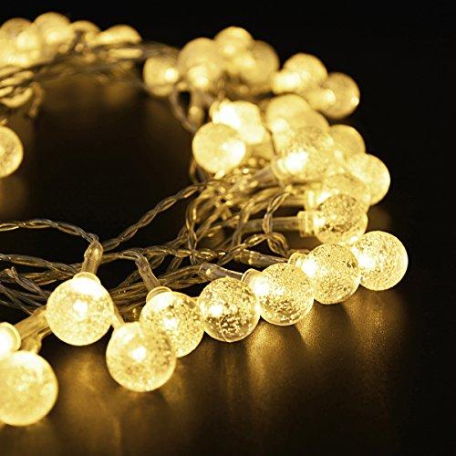 Strisce di Luci LED 33 feet / 10 M 100 LED batteria alimentato LED String Fata luci per Natale partito, Indoor, Outdoor Patio, ponte, magico Decor per decorazioni di nozze, camera da letto (bianco caldo) (100 leds) - Outdoor Decor