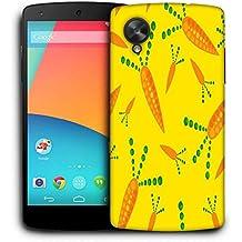 Snoogg Zanahoria Amarillo Funda Carcasa de diseño para LG Nexus 5