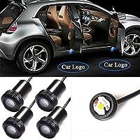 4 X Universal de coche para lámpara de proyector de LED Puerta sombra Bienvenido Luz Laser Emblema Logo Lamps,Puerta de coche LED de luz del proyector Cortesía Logo Bienvenido luces