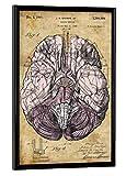 artboxONE Poster mit schwarzem Rahmen 30x20 cm Steampunk Gehirn von Künstler Artkuu - Poster mit Kunststoffrahmen