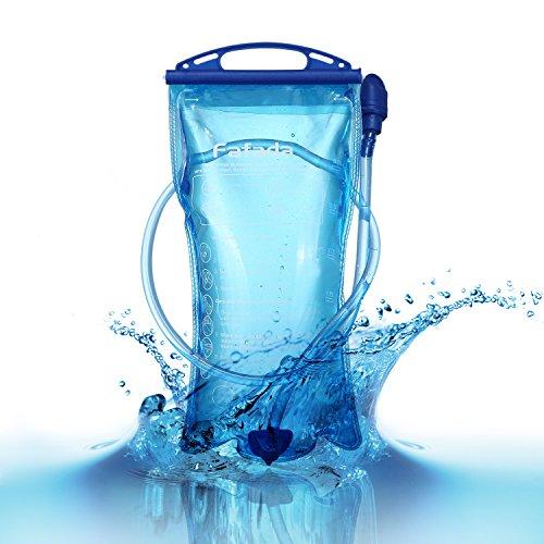 Fafada Trinkblase 3L PEVA Wasserbehälter für Rucksack Wanderrucksack Trinkrucksack Radfahren Wasserblase Trinksystem zum Camping Wandern Radfahren Blau