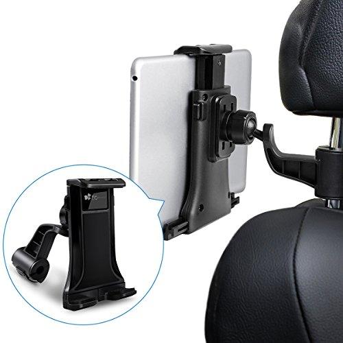 """Tablet Halterung, EC Technology iPad Kopfstützenhalterung 360° Grad einstellbare rotierende Autositz-Kopfstützenhalterung für iPad, Samsung 7"""" bis 10"""" Tablets - Schwarz"""