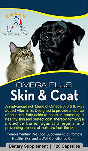 The Petcare Factory Omega Plus Skin & Coat Supplement For Dogs and Cats, Triple Action Omega 3, 6 & 9 With Added Vitamin… 7