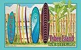 Northwest Art Mall ed-5803klare Kante/SRN Tybee Island Florida Surfbrett Rental Print von Künstler Evelyn Jenkins Drew, 27,9x 43,2cm