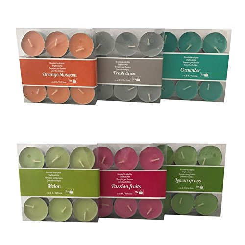 Megaprom 54 TLG. Mix Duft Teelichter Duftkerzen Duftteelichter Aromakerzen Kerzen Wachskerzen Set -