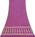 Indian Vintage-Saree Woven aus Reiner Seide Deco Craft