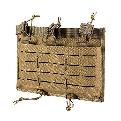 OneTigris Taktische Dreifach-Magazintasche Laserschnitt MOLLE Mag Pouch DD27 für AR/AK/G36/M14 (Khaki) |MEHRWEG Verpackung