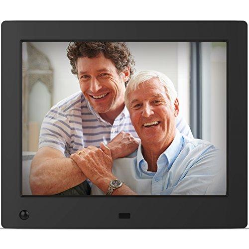 Nix Advance - 8 Zoll Digitaler Bilderrahmen für Fotos und HD-Video (720p) mit Bewegungs-Sensor, für SD und USB, Schwarz - X08E