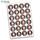 Papierdrachen 24 Adventskalender Nummern Aufkleber Zahlen - Weihnachtsmann auf Tafel Nr 23 - Sticker 4 cm - zum Basteln und Dekorieren
