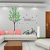 GOUZI Rotwild Wandtattoos kreative Aufkleber, EIN Fahrrad, König Wall Sticker abnehmbare Wall Sticker für Schlafzimmer Wohnzimmer Hintergrund Wand Bad Studie Friseur