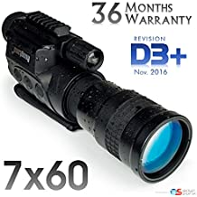 7x60 Rongland NV760-D3 + DISPOSITIVO PROFESIONAL DE VISIÓN NOCTURNA DIGITAL Y CÁMARA A TODO COLOR (MONOCULAR) - Nuevo modelo de nov. 2016 con BATERÍAS RECARGABLES CON CIRCUITO DE PROTECCIÓN - calidad de imagen comparable con gen. 2 - funciona con la luz del día y de la noche - iluminación IR automática - foto y vídeo a la tarjeta SD, salida video para la TV, computadora o sistemas de vigilancia. Soporte de trípode y riel accesorio, estuche de transporte, ampliación 7x60mm - Revisión D3 +