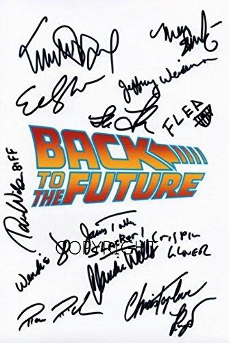 Limited Edition zurück in die zukunft Guss Signiert Foto Autogramm signiertsigniertes