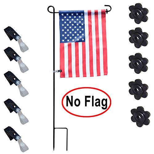 Xunny 5 Paar Garten-Flaggen-Stopper und Windschutz-Clips ohne Custom Saisonale Gartenflaggen Marry Garden Fahnenständer