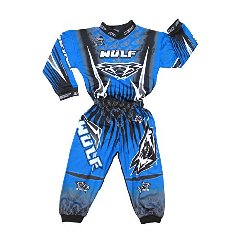 Wulfsport Toddler Motocross Race Suit Up To 3 Years (Blue)