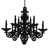 TUPARKA Decorazione per lampadari di Halloween Decorazione per la casa stregata di Halloween Nero Decorazione sospesa a soffitto Glitterata , 1 Set