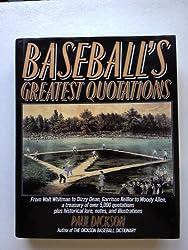 Baseball's Greatest Quotations
