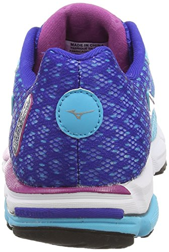 Mizuno Wave Rider 18 (w), Chaussures de Running Entrainement Femme Bleu (Blue Atoll/Silver)