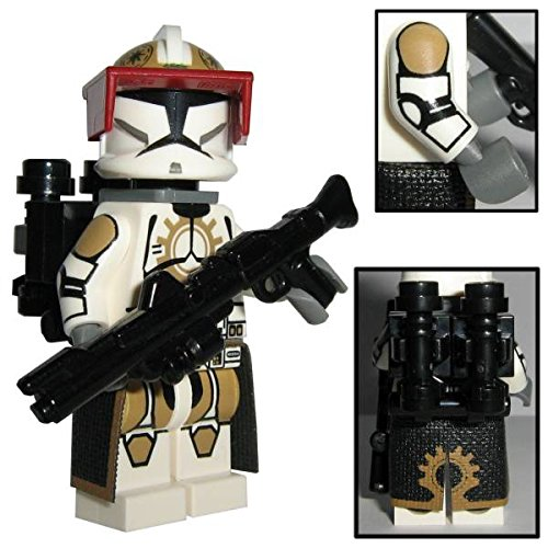 Custom Brick Design 87th Star Corps Legion Jet Clone Trooper Figur V.1 - Customized by CBD (Jet-blaster)