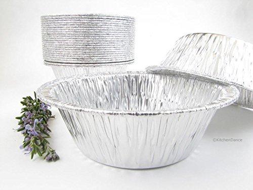 Disposable Aluminum 5 3/4 Extra Deep Meat/Pot Pie Pan #2400 by Durable Packaging (25) by Durable Packaging - Deep Pie Pan