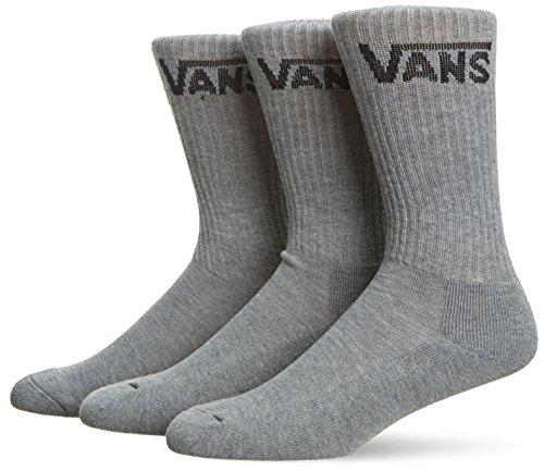 Vans Herren M Classic Crew Socken, 3er Pack, grau (Heather Grey), 38.5-42 EU (Socken Skate Crew)