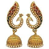 #9: Voylla Metal Dangle and Drop Earrings For Women(Gold) (8907275235576)