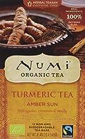 Numi Tisane Bio & Fairtrade au Curcuma, Rooibos, Cannelle et Vanille Amber Sun- 6 cartons DE 12 filtres chacun