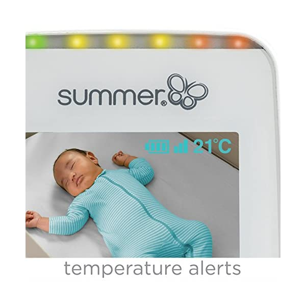 Summer Infant Sure Sight Number 2.0 Digital Video Monitor  100% digital technology for privacy and security Range up to 240m Nursery temperature display on screen 4