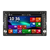 Double Din In Dash Car GPS Navigation Auto radio 2 Din Stereo In Deck Car DVD CD Player USB SD Bluetooth MP3 Multimedia System Auto AM FM Radio Steering Wheel Control iPod USB SD
