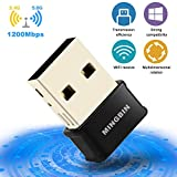 Best Wireless Network Cards - MingBin USB Wifi Dongle, Mini Wifi Adapter AC1200Mbps Review