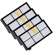 LOVEOURS,Pack de 4 Filtros HEPA iRobot Roomba Series (800/900) 870, 871, 880, 890, 980