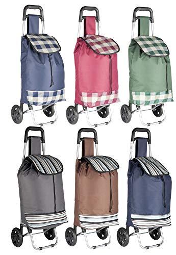 hibuy Einkaufstrolley 25Liter mit weichen Gummi Komfortrollen, Verschiedene Designs und Farben