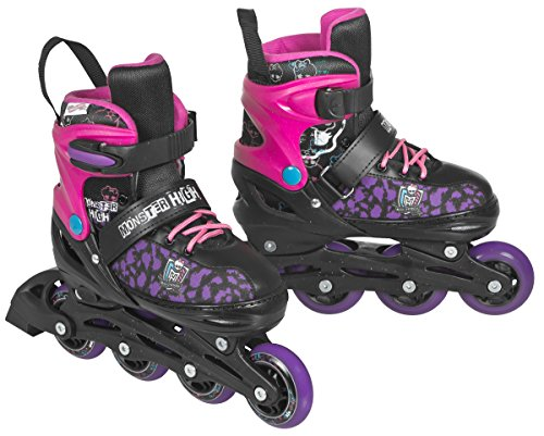 Monster High Mädchen Inline Skates Creepy Cool II, Schwarz / Lila / Magenta, 35-38, 960127