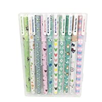 Wicemoon 10pcs Ballpoint Pen Colorful Pens Gel Pen Pretty Color Pen Cute for Students Office Workers 0.5MM