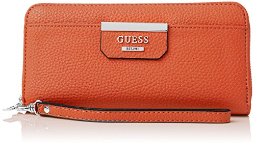 Guess Bobbi Slg Large Zip Around Portamonete, Donna, Multicolore (Spice Multi)