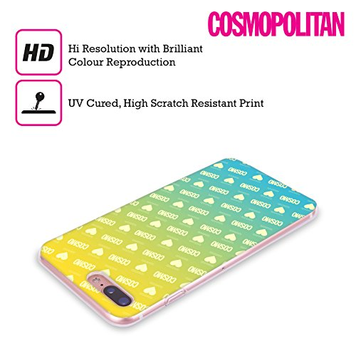 Official Cosmopolitan Ombre Pattern 2 Logo Soft Gel Case for Apple iPhone X Ombre Love