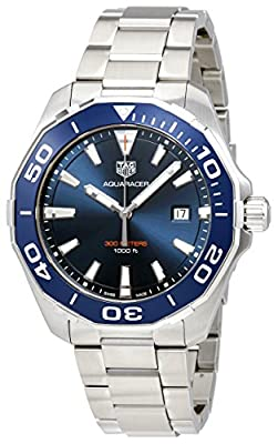 TAG Heuer Aquaracer Azul Dial Mens Reloj way101C. ba0746