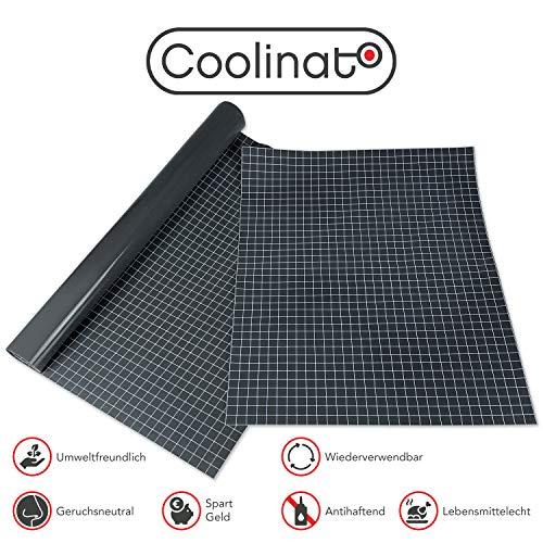 Coolinato® 2 Hochwertige Silikon Backmatten (38x30cm und 40x60cm) - Rutschfeste Dauerbackfolie für Backofen und als Backunterlage und Teigunterlage | Umweltfreundlich und Spülmaschinenfest